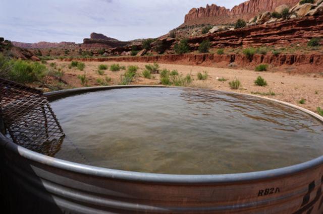 Waterworks at Colt Mesa, Utah. Photo: Jamal David Green / Across Utah!