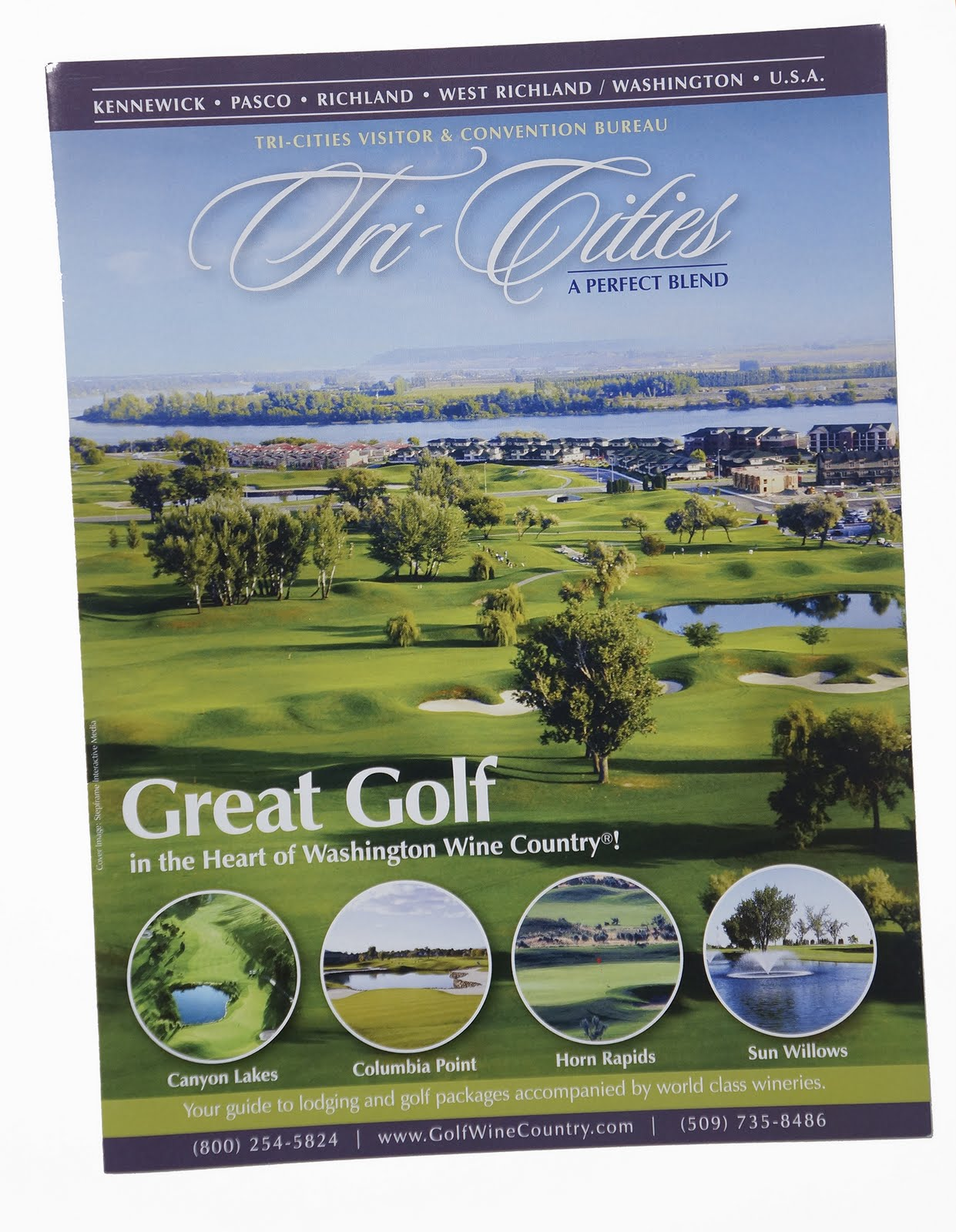 A three-fold insert for a golfing magazine; also used as a standalone brochure.