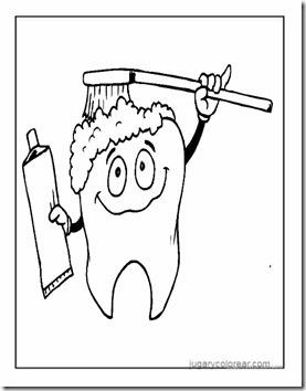 cepillarse los dientes colorear 38