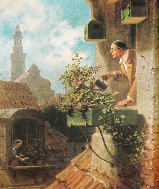 Carl Spitzweg - Die Dachstube.In the roof little room