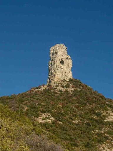 Le profil des dents de Roque Forcade vu depuis les environs immédiats du col de l'Espigoulier
