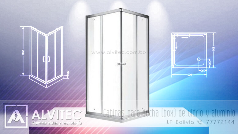 Cabinas para ducha - Box de baño en aluminio y vidrio