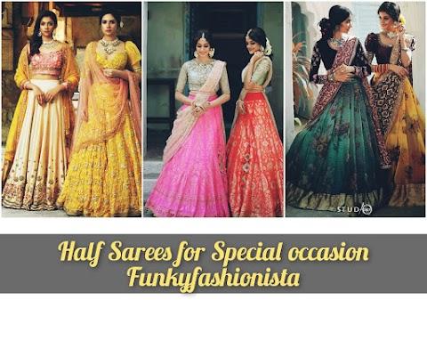 30+Top Trending Designer Half Saree For Special Occasion