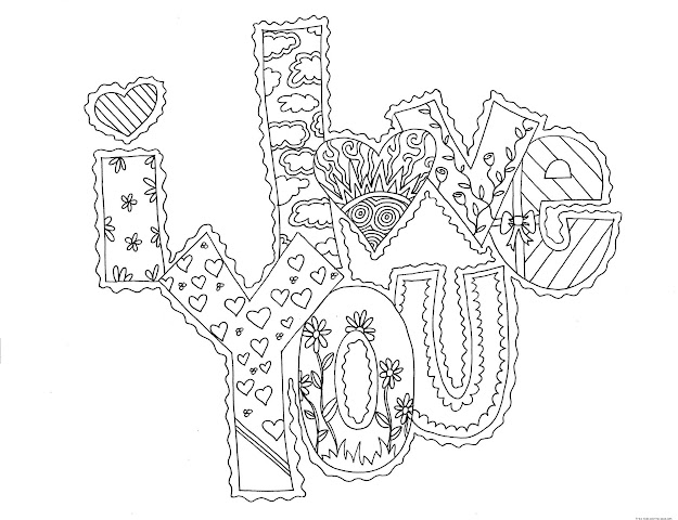 Love You Coloring Pages To Print  Day Love You Card Coloring  Pages Free