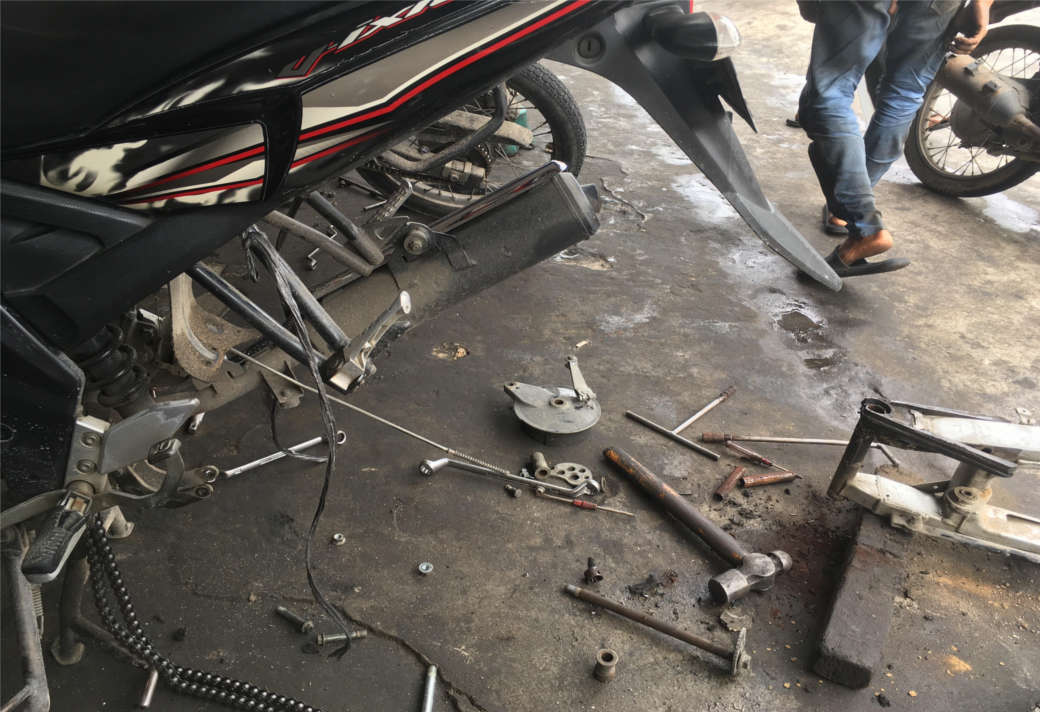 Masalah Swing Arm Yamaha Vixion Goyang