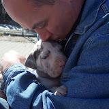 JJ cuddling with dad