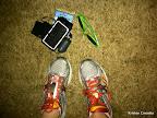 Pre-race checklist: Sneakers - check! Headphones - check! Pre-race Clif bar - check! Bright sunglasses - check!