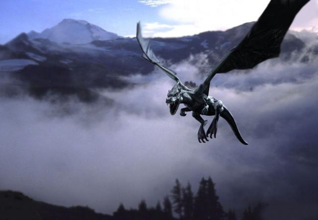 Black Dragon N Flying, Celtic And Druids