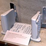 crazy keyboard at computer history museum in silicon valley in Mountain View, California, United States