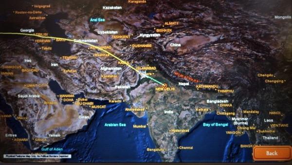 Route to Delhi
