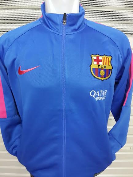 Jual Jaket Barcelona Biru Benhur List Pink 2014-2015