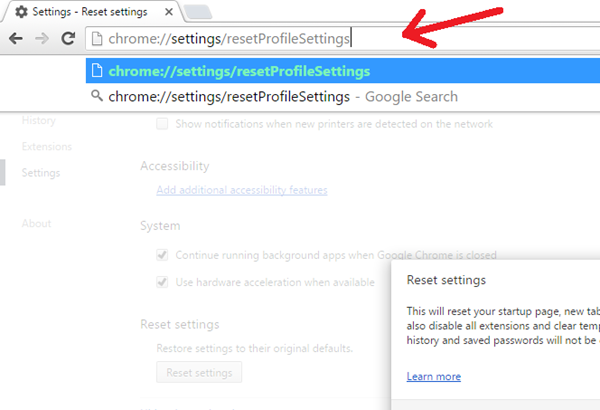 chrome reset settings 02