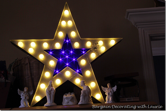 Nativity Set with Lit Star