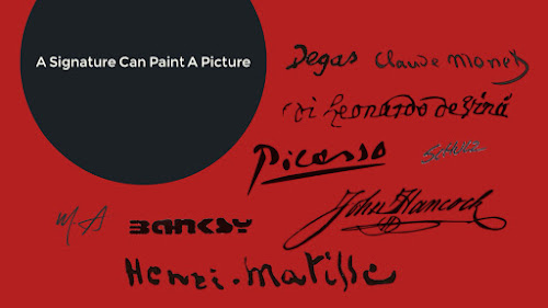 A signature can paint a picture