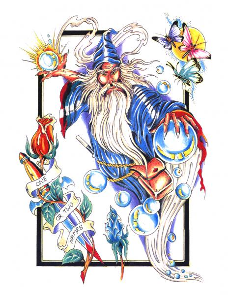 Design Of Magick Tattoo 11, Fantasy Tattoo Designs