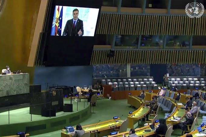 Pedro Sánchez reivindica en la Asamblea General ONU la posición marroquí sobre el Sáhara Occidental.