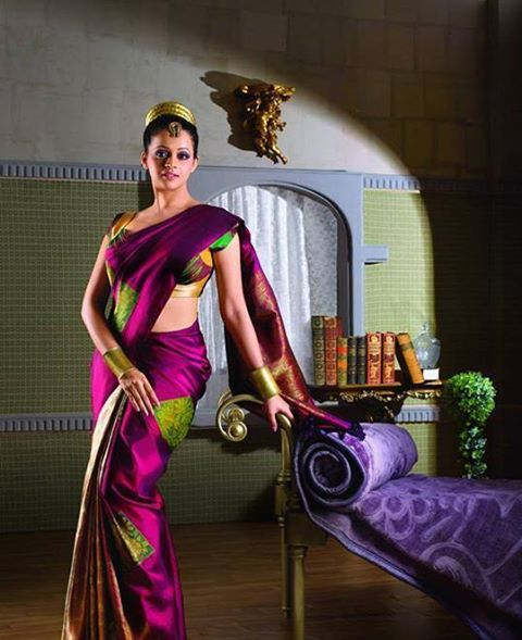 Actress Bhavana Dresses like Other Religious girl in Saree with Turban