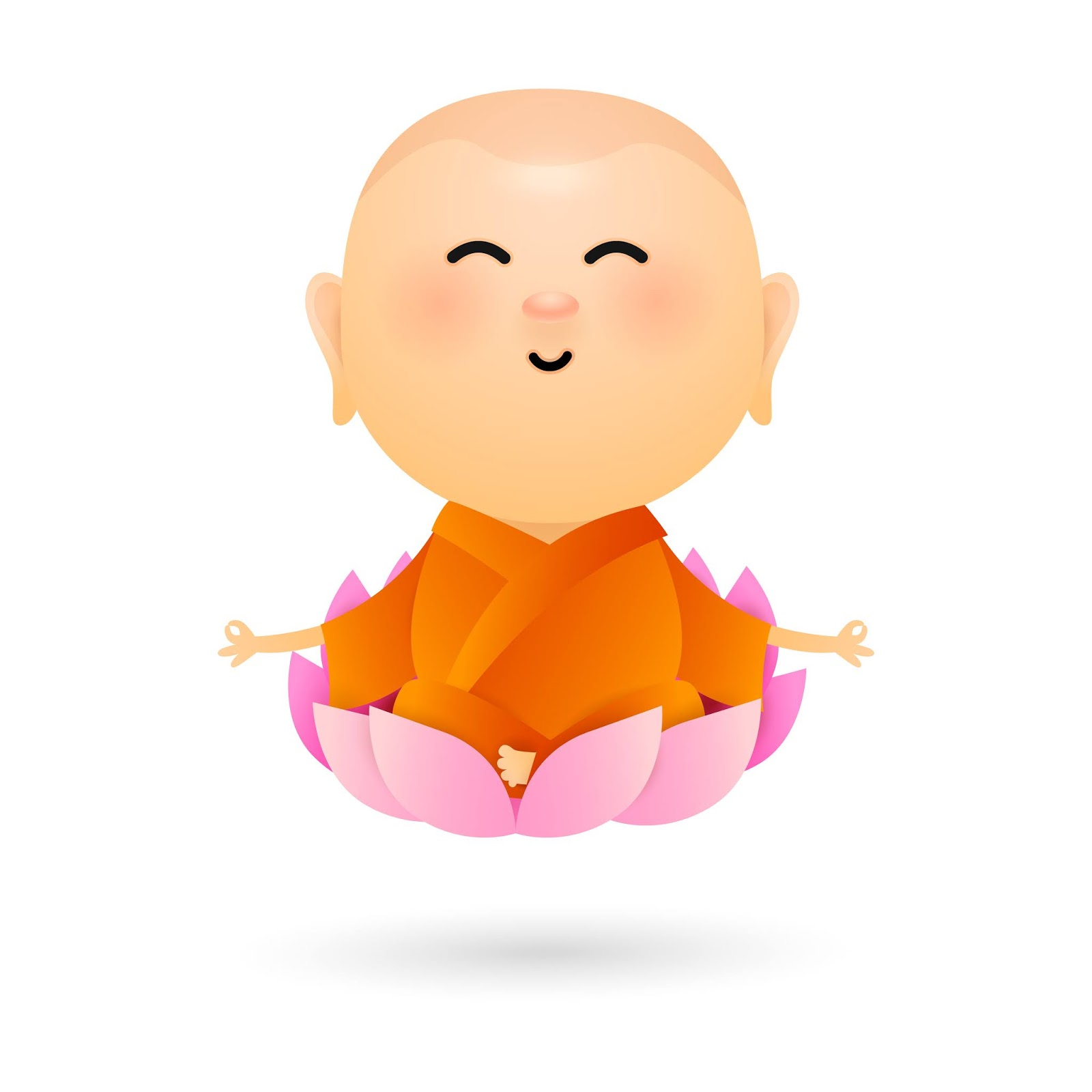 Cartoon Buddha Sitting Lotus Free Download Vector CDR, AI, EPS and PNG Formats