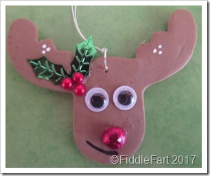 Christmas Fimo Reindeer decoration