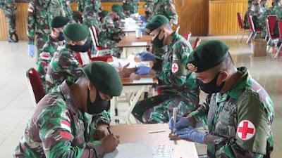 Laksanakan Rapid Test Covid-19 Tahap Dua, Satgas 411 Kostrad Siap Kembali ke Salatiga