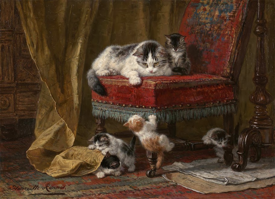 Henriette Ronner-Knip - Mothers pride