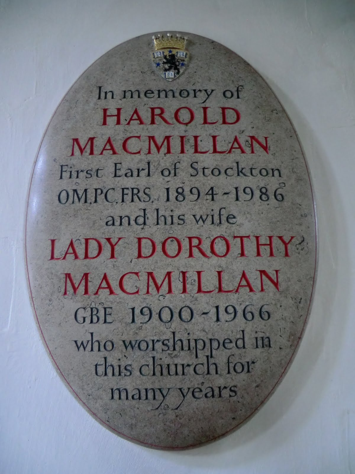 CIMG2962 MacMillan memorial, Horsted Keynes church