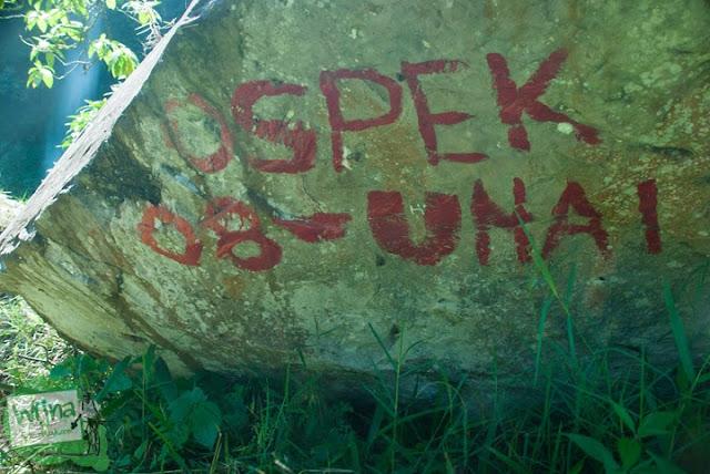 aksi vandalisme mahasiswa universitas advent indonesia di wilayah Curug Bugbrug, Bandung Barat