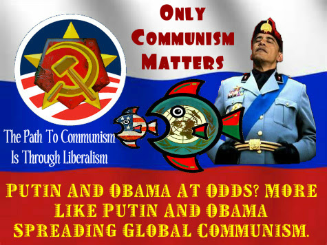 The Liberalism That Is Ushering In Poverty, Despare And Hardships  Obama%252520On%252520The%252520Russian%252520Flag