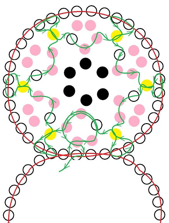 Розовый браслет из бисера. Схема 2.