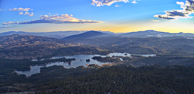 Antelope lake on the Plumas National Forest in Northern California