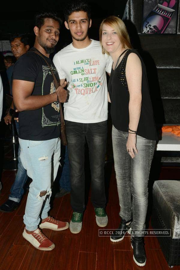 Uni, Anirudh and Kristy during a party at Illusions, in Chennai.