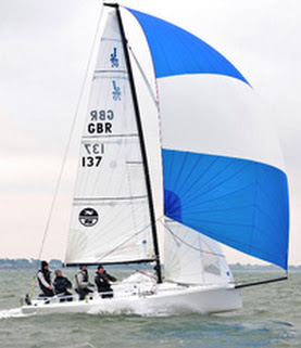 J/70 sailing Warsash Spring series under spinnaker