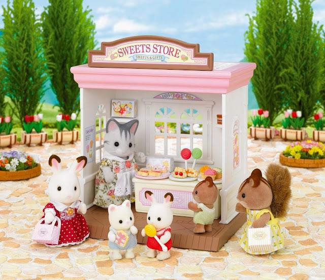 Các em bé của thể giới Sylvanian cũng yêu thích bánh ngọt tại Cửa hàng bánh ngọt Sweets Store Sylvanian không kém gì con người đâu nhé
