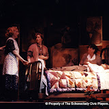 Jeffrey Knight, Cynde Schwartz, Donna Newton, Pat Kerton and Christopher Foster in LOOK HOMEWARD, ANGEL (R) - March 1994.  Property of The Schenectady Civic Players Theater Archive.