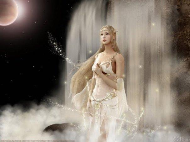 Magic White Waterfall, Magic And Spells