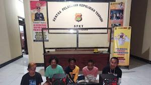 Lima pemuda terduga pelaku pencurian diamankan Polsek Pekat