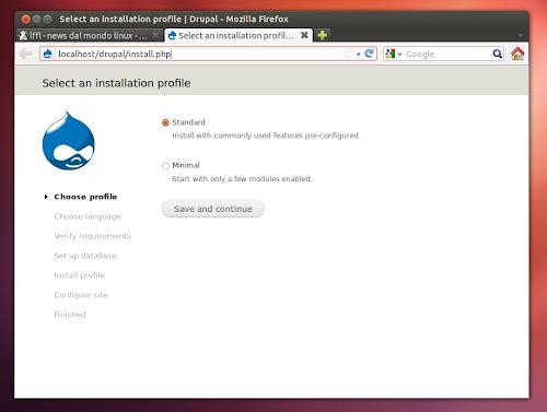 Drupal installer su Ubuntu