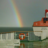 Rainbow on the Aratere.