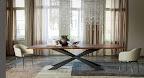 Cattelan tavolo Spider wood, piano noce, strutturas metallo
