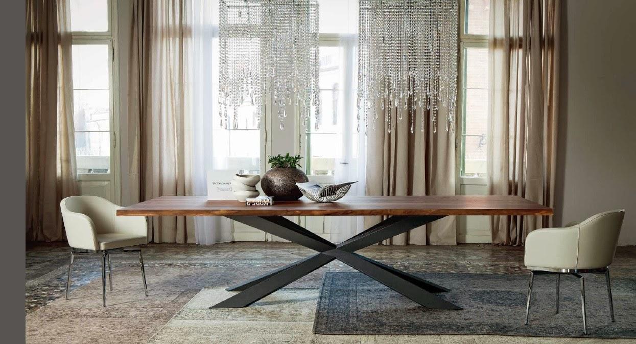 Cattelan tavolo Spider wood, piano noce, strutturas metallo.jpg