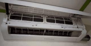 Melepas cover unit indoor AC split