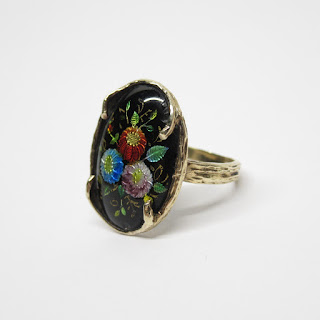 14K Enamel Ring