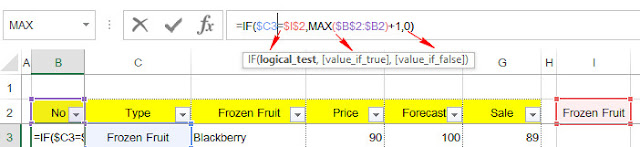 Using IF and Max Function