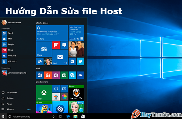 Hướng dẫn sửa file host trên hệ điều hành Windows 8 và 10