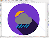 Crear iconos conforme al Long Shadow Desing con Inkscape