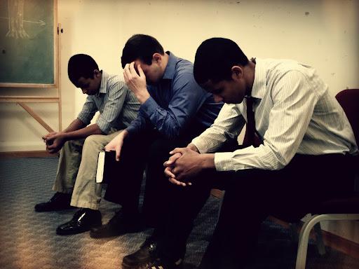 Sabbath morning prayer before worship service