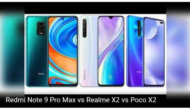 Xiaomi Redmi Note 9 Pro Max vs Realme X2 vs Poco X2: Know which phone with 64MP camera is better