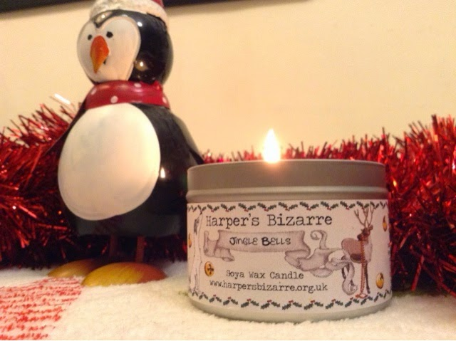 Harper's Bizarre Jingle Bells Christmas vegan candle