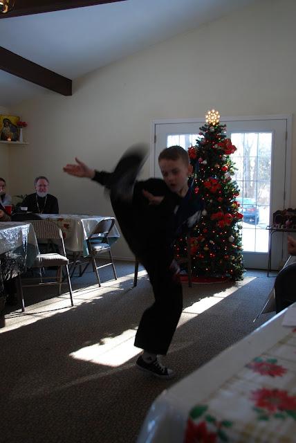 Patrick performs Jiu Jitsu.