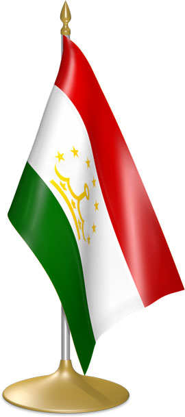 Tajikistani table flags - desk flags